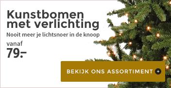 Kerstbomen met verlichting