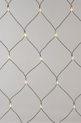 LED netverlichting buiten zwart/war