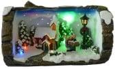 Dickensville Boomstronk kerstscene LED