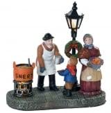 Dickensville Snert verkoper kerst lantaarnpaal met licht