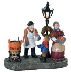 Dickensville Snert verkoper lantaarnpaal met licht