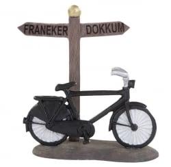 Dickensville Wegwijzer fiets incl. 11 naamstickers