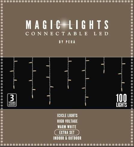 Magic Lights Connectable LED icicle extra set