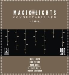 Magic Lights Connectable LED icicle start set