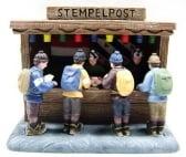 Dickensville Kersthuisje Stempelpost Elfstedentocht