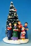 Dickensville X-Mas tree met kerstkoor