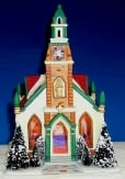 Dickensville Kersthuisje Kerk met inkijk