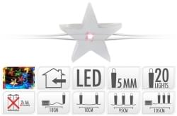 Home & Styling Zilverdraad ster LED multi