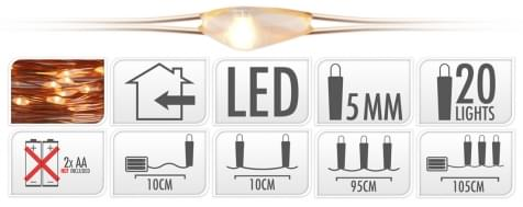 Home & Styling Koperdraad LED 20