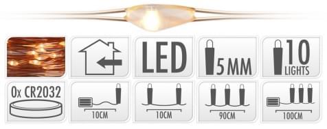 Home & Styling Koperdraad LED