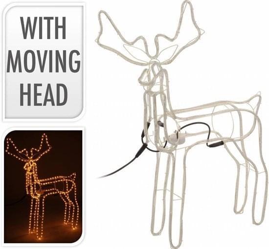 Home & Styling Slangverlichting rendier 60 cm