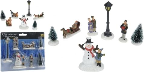 Home & Styling KERSTDECORATIE SET 7STS 2ASS