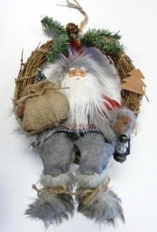 Magic Deco Krans met kerstman 40 cm