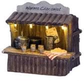 Dickensville Kersthuisje Warme chocomel kraam met verlichting