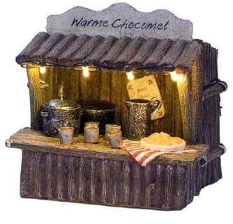 Dickensville Warme chocomel kraam met verlichting