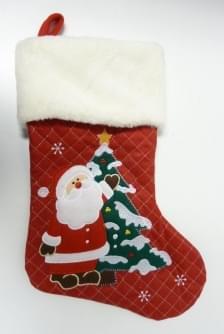 Magic Jollity Kerstsok kerstman 45cm