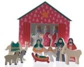 Decoris Kerstgroep houtkribbe