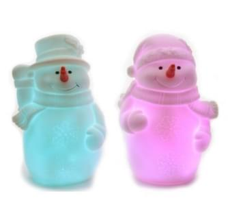 Lumineo LED sneeuwpop rubber 2ass bo colour