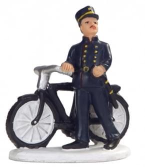 Dickensville Politieman -Bromsnor- met fiets