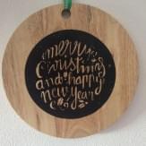 Home & Styling Snijplank met kerstprint rond