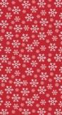 Duni Tafellaken Red Snowflakes