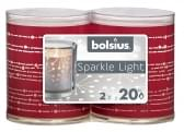 Bolsius Sparkle Light H64 x Ø52 lint rood