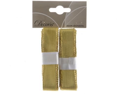 Decoris kerstlinten - goud goud 2x200cm Pbh