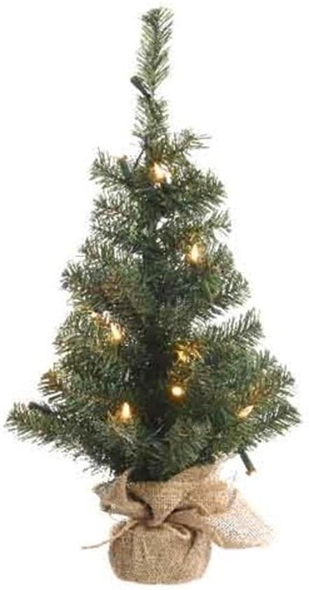 Decoris Mini Kerstboom Met Jute Zak