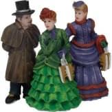 Dickensville Elfsteden Chique dames en heer set van 3