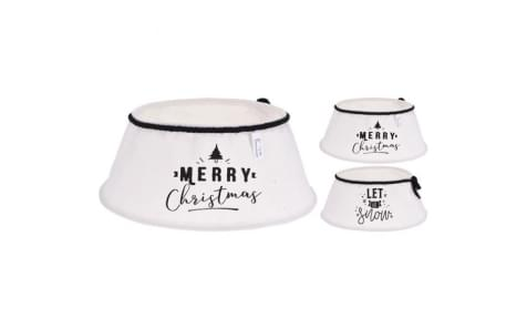 Home & Styling Kerstboomrok Tekst 40 cm 2 ass